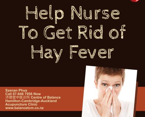 Help nurse to get rid of Hayfever