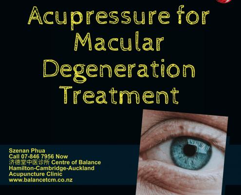 Acupressure for Macular Degeneration