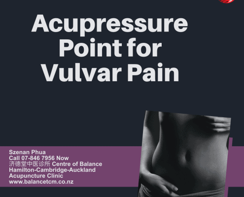 Acupressure point for vulvar pain
